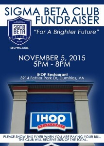 Sigma Beta Club Fundraiser - IHOP